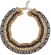 ABS by Allen Schwartz Tri-Metal Collar Necklace