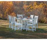Polywood Traditional Garden 7-Piece Dining Set Color: White