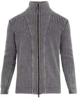 Iris von Arnim High-neck zip-through cashmere cardigan