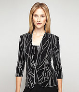 Alex Evenings Printed 3/4 Sleeve Button Closure Twinset