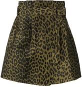 Thumbnail for your product : Ganni leopard-print A-line mini skirt