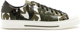 Valentino Camustars leather and canvas low-top trainers
