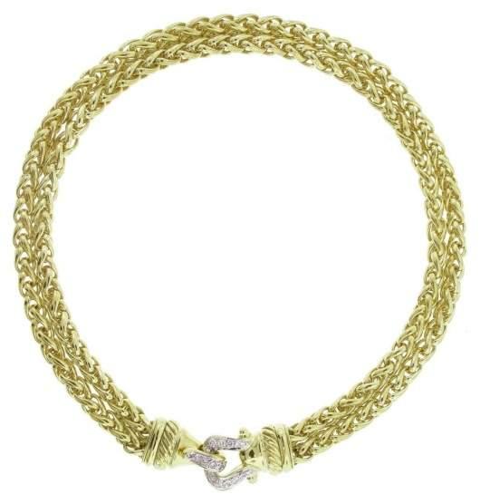 David Yurman 18K Yellow Gold and Diamond Necklace