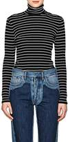 Derek Lam Women's Striped Cotton Turtleneck Sweater