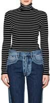 Derek Lam Women's Striped Cotton Turtleneck Sweater