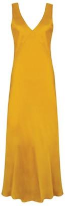 ASCENO The Bordeaux Silk Midi Dress