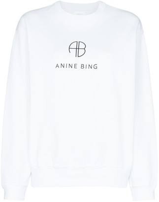 Anine Bing Logo Printed Sweatshirt