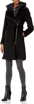 Soia & Kyo Women's Mixed Media Jacket with Hood