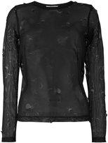 Comme des Garcons mesh blouse - women - Polyester - S