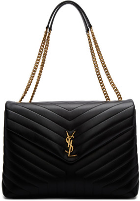 Saint Laurent Black Large Loulou Bag