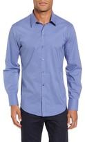 Zachary Prell Men's Ramon Slim Fit Mini Check Sport Shirt