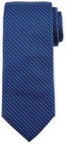 BOSS Textured Dot Silk Tie, Light Blue