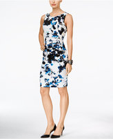 Ivanka Trump Floral-Print Starburst Sheath Dress