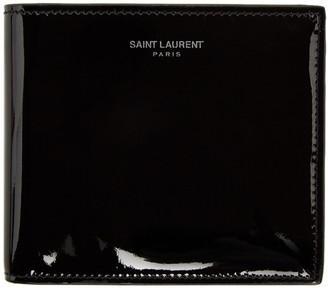 Saint Laurent Black Patent Bifold Wallet