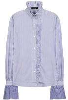 Burberry Ruffled Cotton Shirt