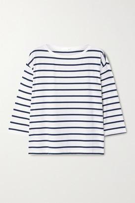 Skin Mathilde Striped Stretch-jersey Top - Blue