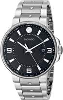 Movado Men's 0606761 SE. Pilot Stainless Steel Case and Bracelet Dial Watch
