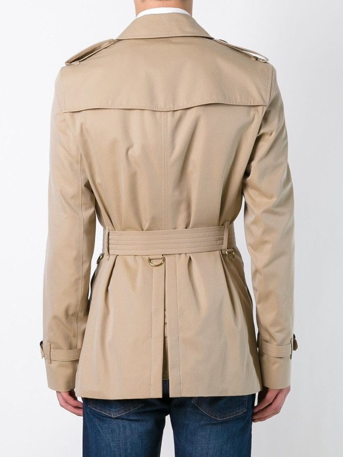 Burberry belted short trench coat