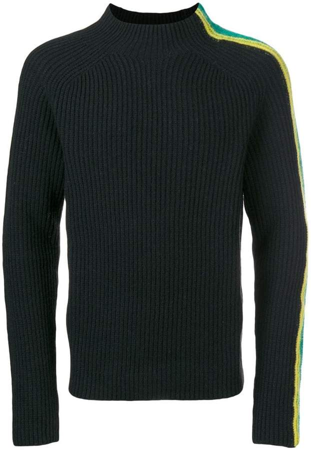 Paura stripes high neck jumper