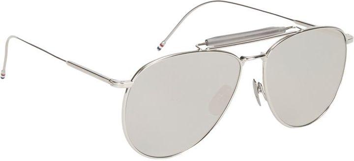 Thom Browne Aviator Sunglasses-Silver