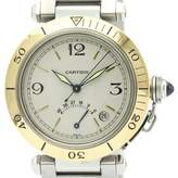 Cartier Pasha Silver gold and steel Watches