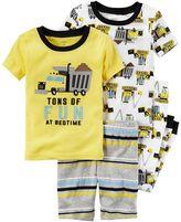 Carter's Boys 4-8 Construction 4-Piece Pajama Set