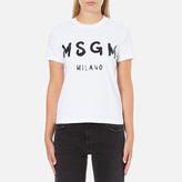 MSGM Women's Logo TShirt - White