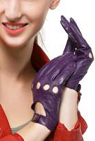 Nappaglo Women Driving Motorcycle Leather Lambskin Full-finger Gloves
