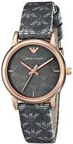 Emporio Armani Women's AR1837 Classic Analog Display Analog Quartz Grey Watch
