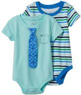 Baby Starters Baby Boy 2-pk. Tie Stripe Bodysuits