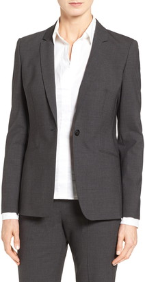 HUGO BOSS 'Jabina' Stretch Wool Suit Jacket