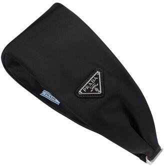 Prada Logo nylon headband