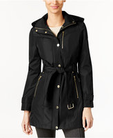 MICHAEL Michael Kors Hooded Belted Raincoat