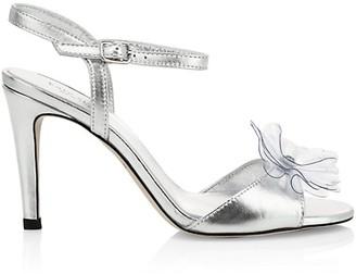 Kate Spade Giulia Flower Metallic Stiletto Sandals