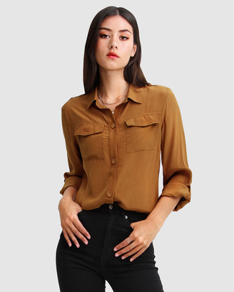 Belle & Bloom Eclipse Rolled Sleeve Blouse