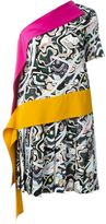 MSGM abstract print asymmetric dress - women - Silk - 40