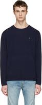 Acne Studios Navy Dasher O Face Sweater