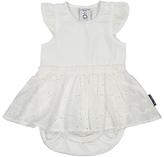 Polarn O. Pyret Baby Bodysuit Dress, White