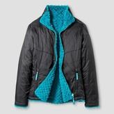 Girls' Reversible Puffer Jacket C9 Champion® - Dark Gray