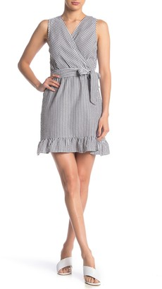Love...Ady Stripe Waist Tie Dress
