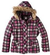 Women's Plus-Size Outerwear Hooded Jacket - Pink/Black