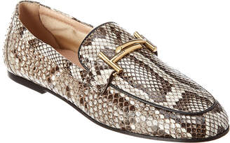 Tod's Double T Python Loafer