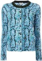 Kenzo snakeskin intarsia jumper - women - Cotton - S