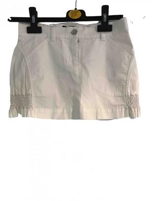Fendi White Cotton Skirts