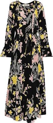 Diane von Furstenberg Imogene Floral-print Silk Crepe De Chine Maxi Dress