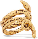 Aurelie Bidermann Asclepios Gold-plated Ring - 52