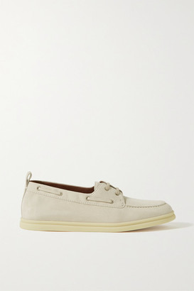 Loro Piana Namib Sea Walk Suede Loafers - Off-white