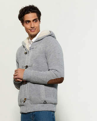 American Stitch Sherpa Fleece Lined Toggle Hooded Cardigan