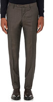 Incotex Women's S Wool-Cashmere Twill Trousers-BROWN