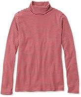 L.L. Bean Double L Rib-Knit Turtleneck, Stripe